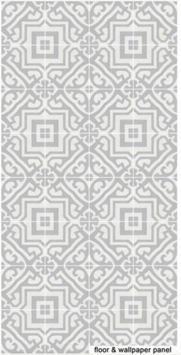 Moroccan tile effect vinyl floor sticker decals