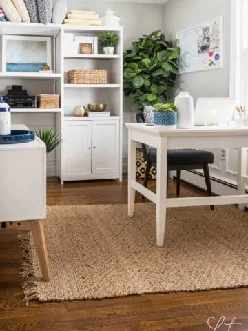 Small home office design and organization