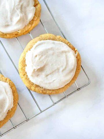Delicious soft pumpkin sugar cookies