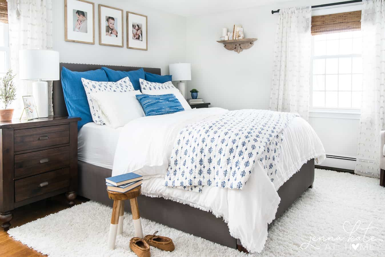 Make over your bedroom without paint or new furniture - just switch out the bedding for a fresh new look!