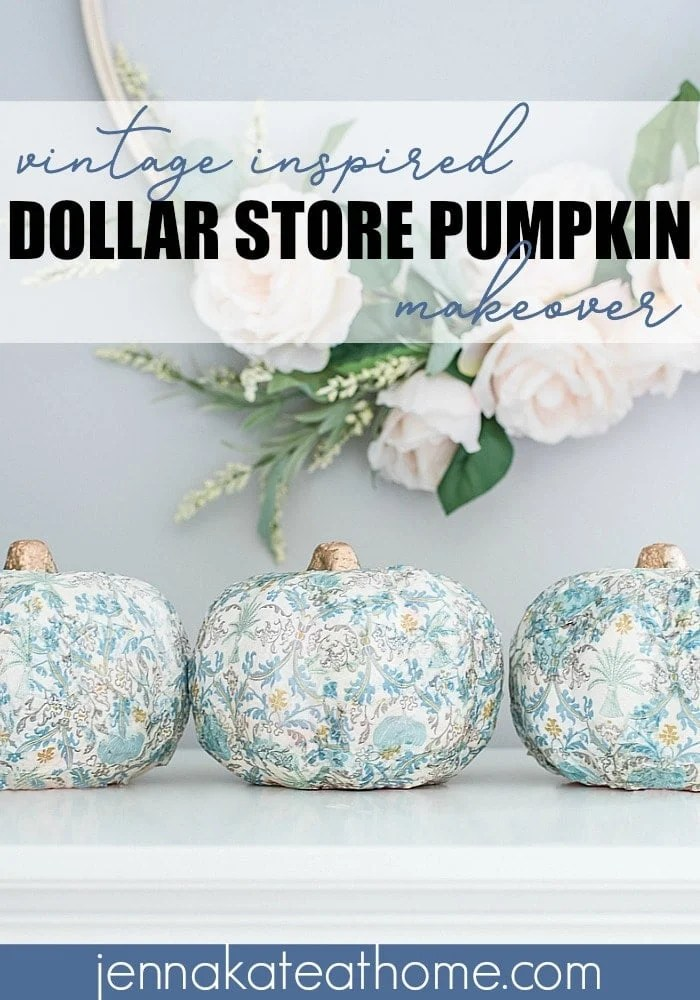 An easy dollar store pumpkin decorating craft using paper napkins