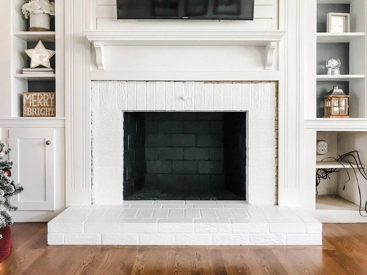 brick fireplace makeover plans