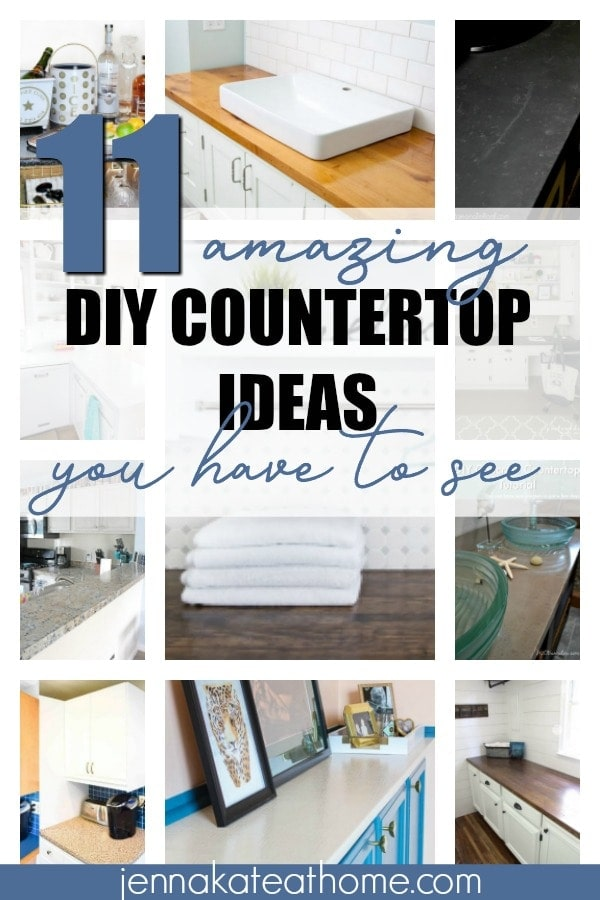 DIY Countertop ideas that are not only inexpensive but beautiful, too!