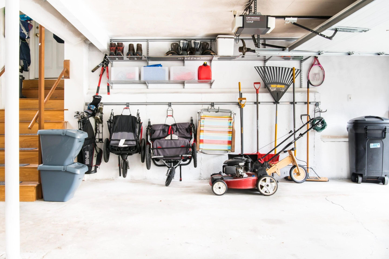 Garage track system for organization