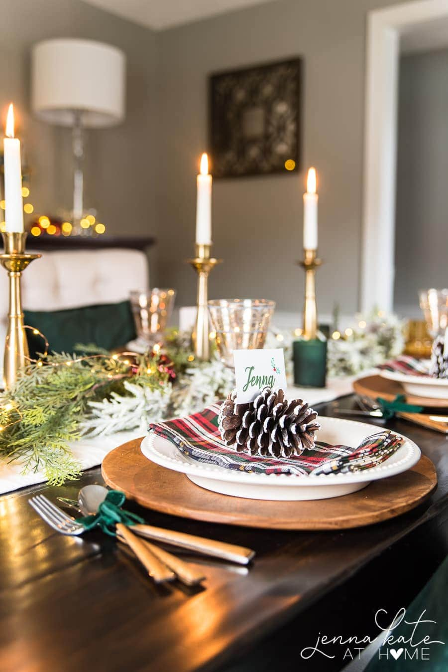 Homemade Christmas place setting ideas