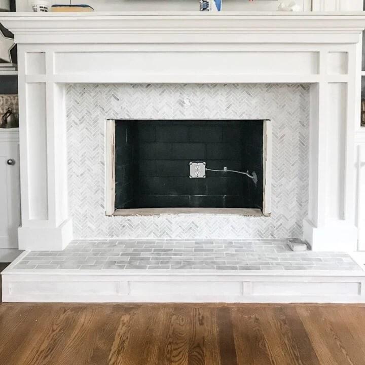 diy fireplace mantel and surround