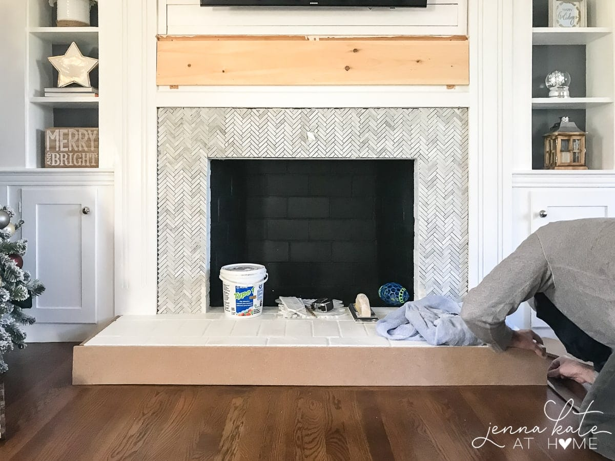 Simple tutorial on how to build a fireplace surround