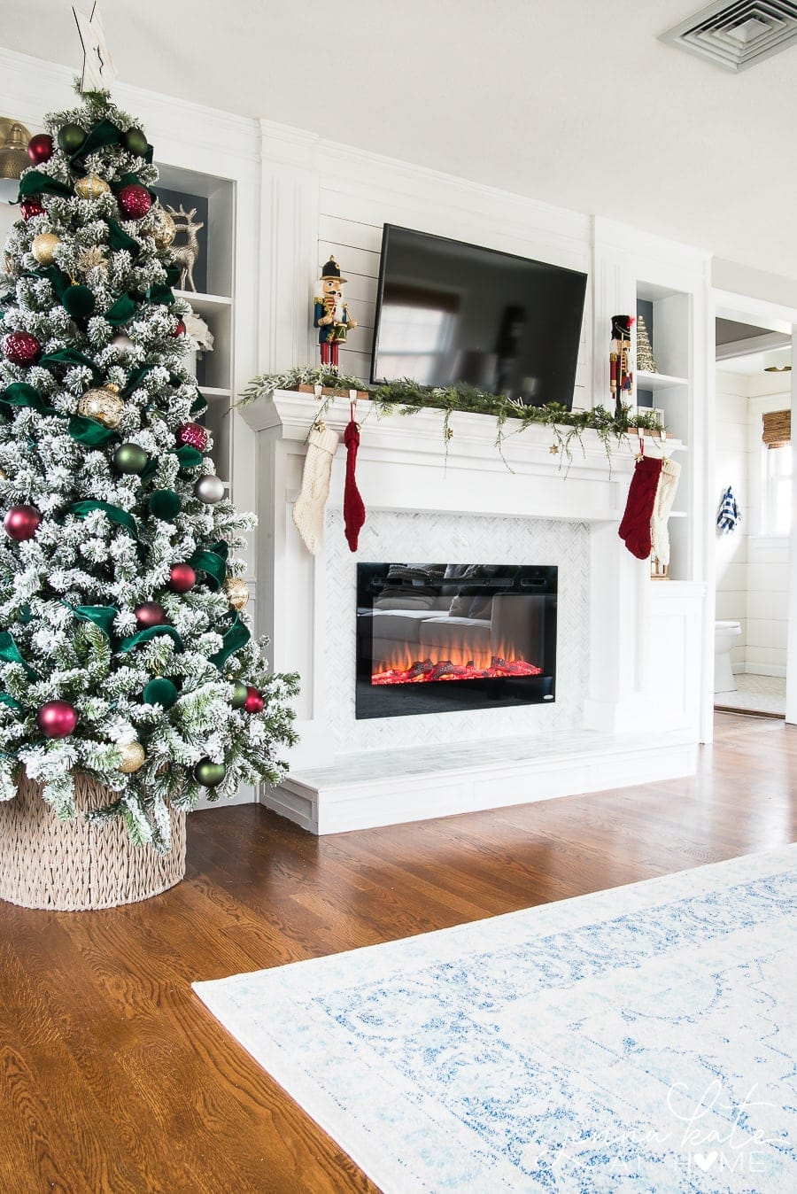 Fireplace surround with electric fireplace