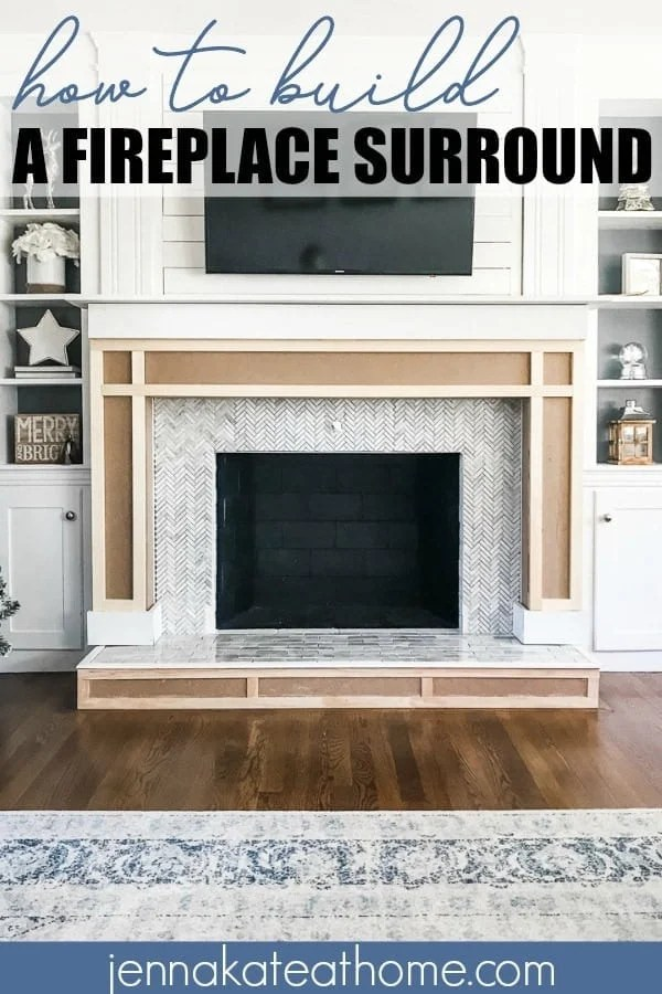 How to build an easy DIY fireplace surround and mantel