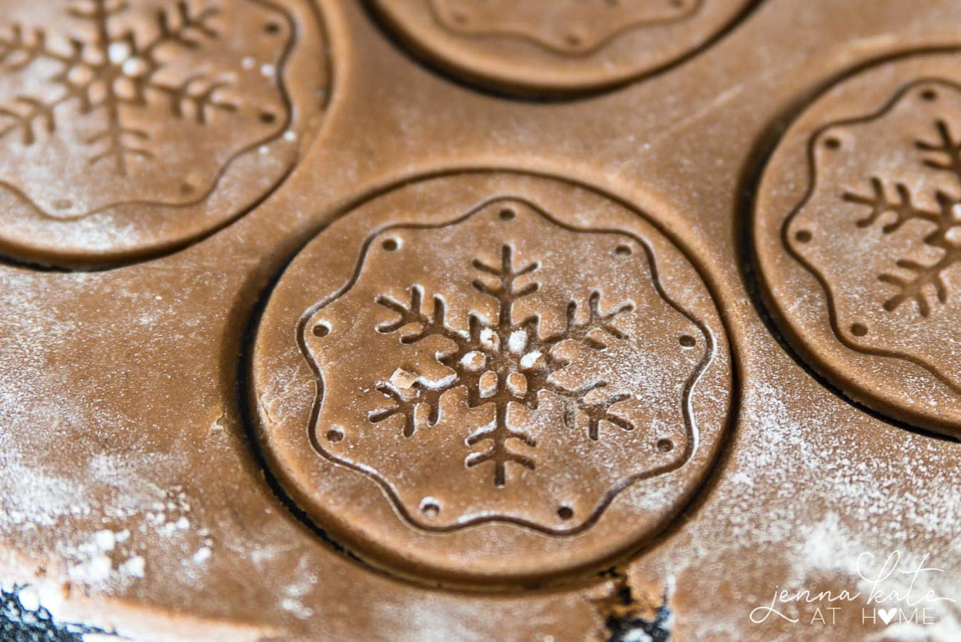 lightly spiced gingerbread holiday cookies