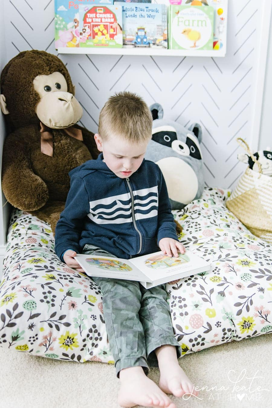 Reading corner ideas for a toddler