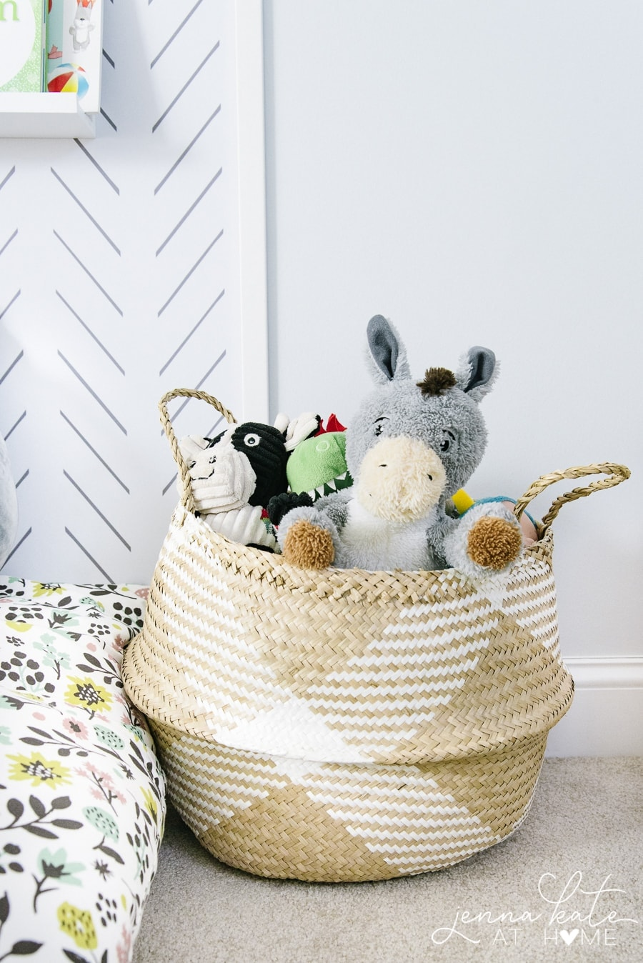 These baskets make great toy storage whether they are in a playroom or living room