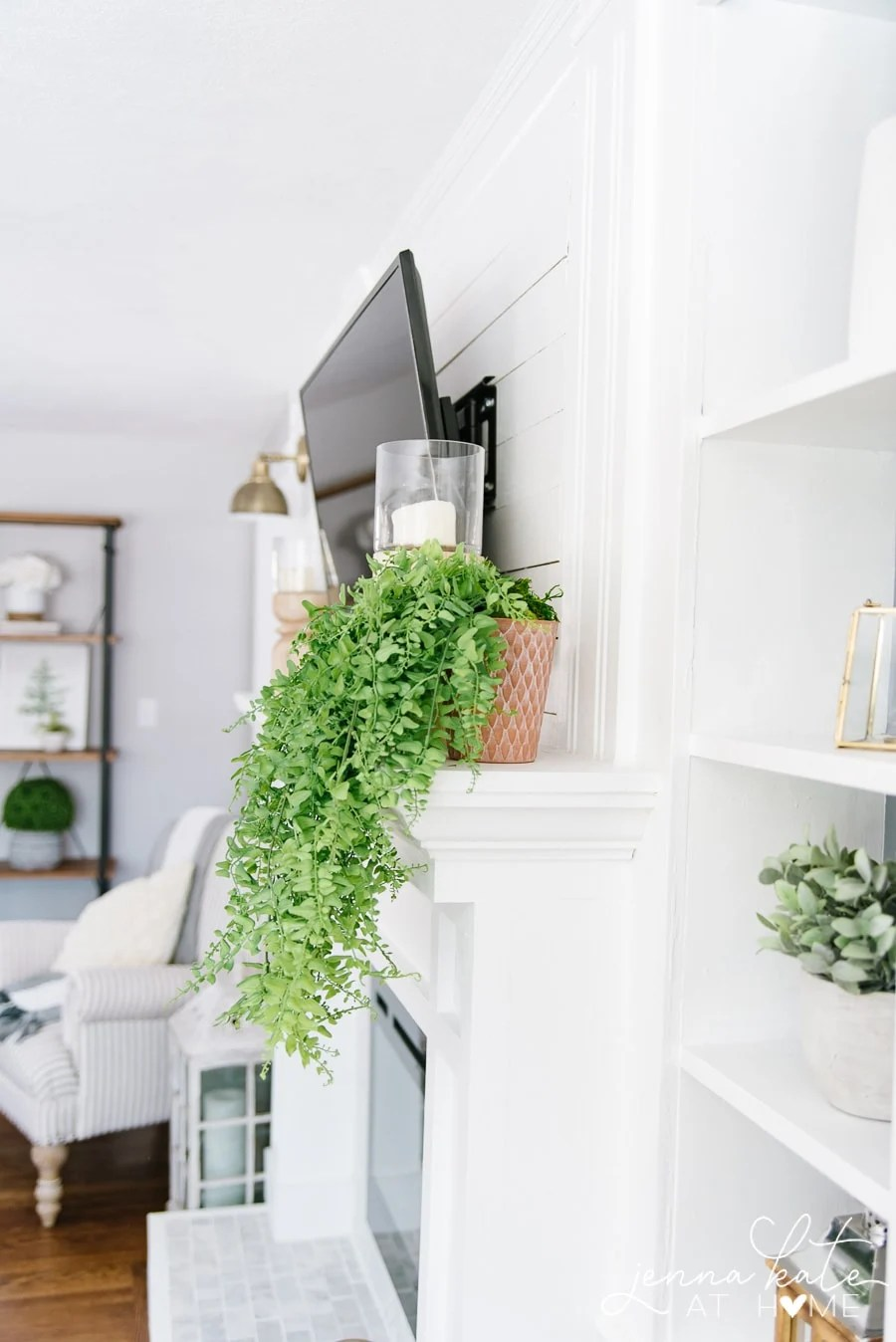 Place your faux trailing plant anywhere you'd like to add some fresh green color