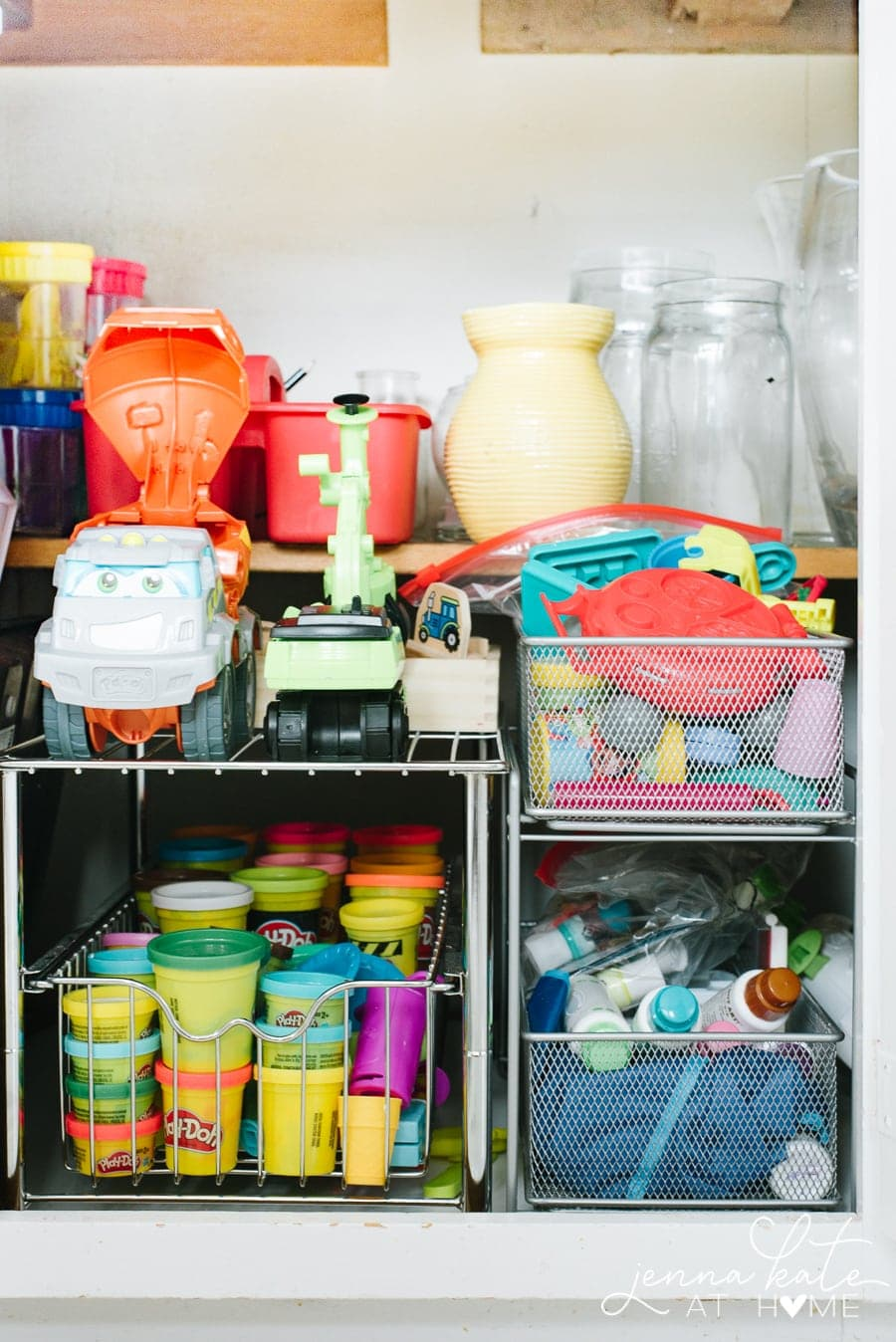 How to organize craft supplies in the kitchen