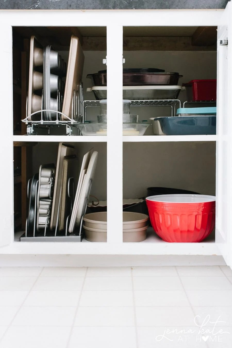 how to organize deep kitchen cabinets with roll-out drawers