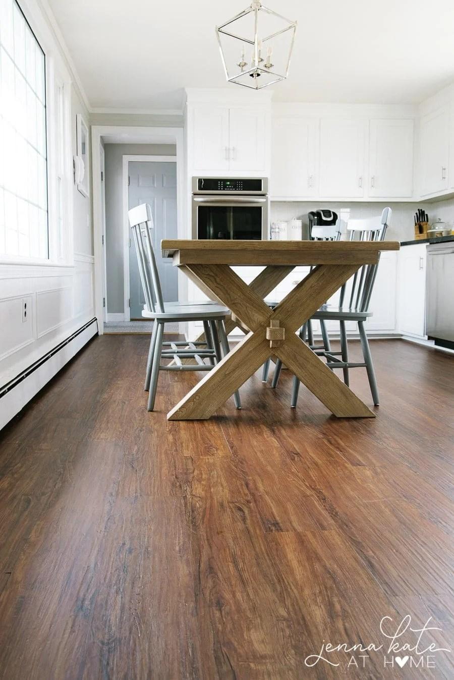 Installing luxury vinyl plank flooring  over existing linoleum floors