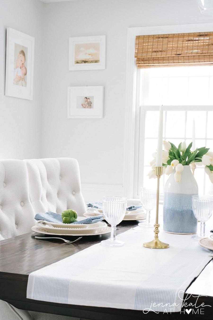 Spring tablescape decor