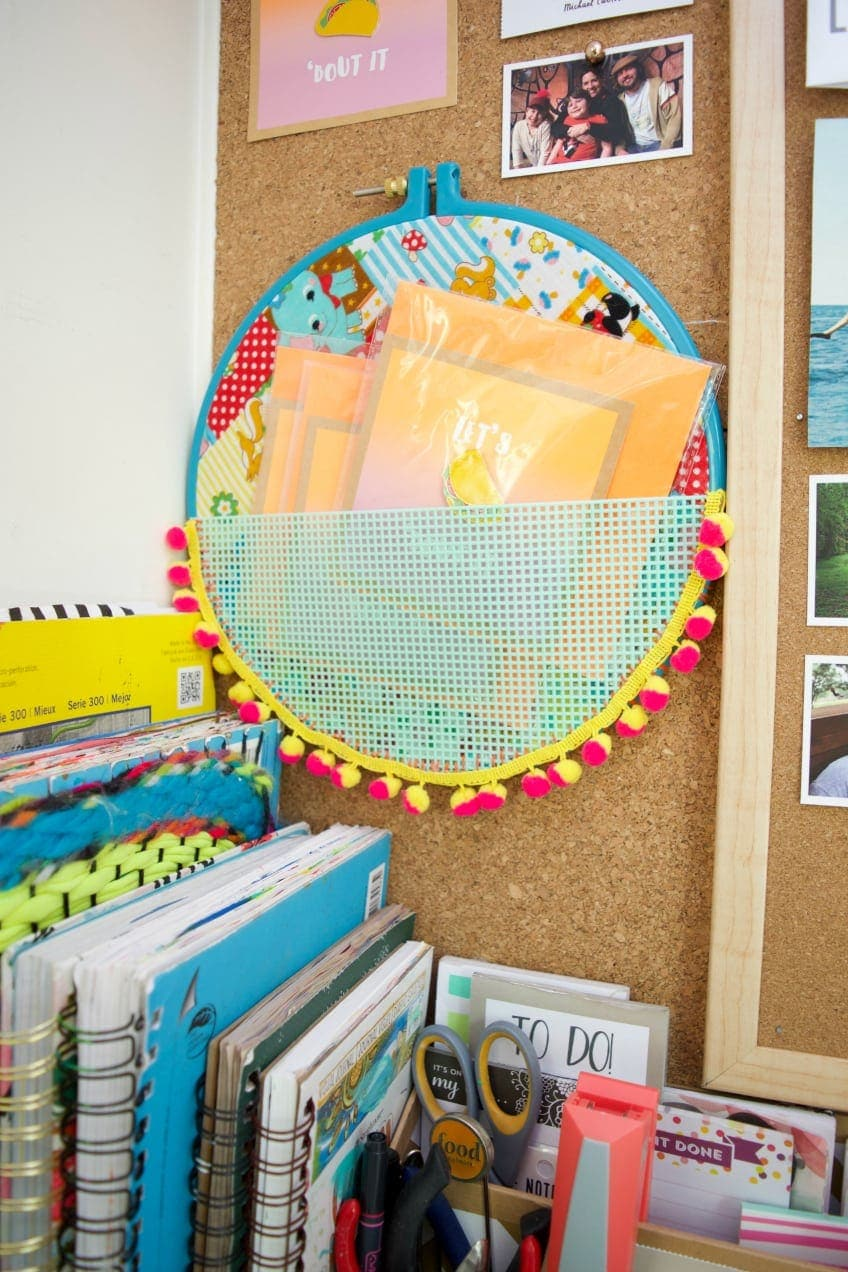 On a budget? Create your own craft room storage using your craft supplies