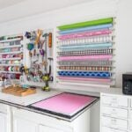 Create your own creative wall of storage The Creative Wall via In My Own Style Jenna Kate at Home