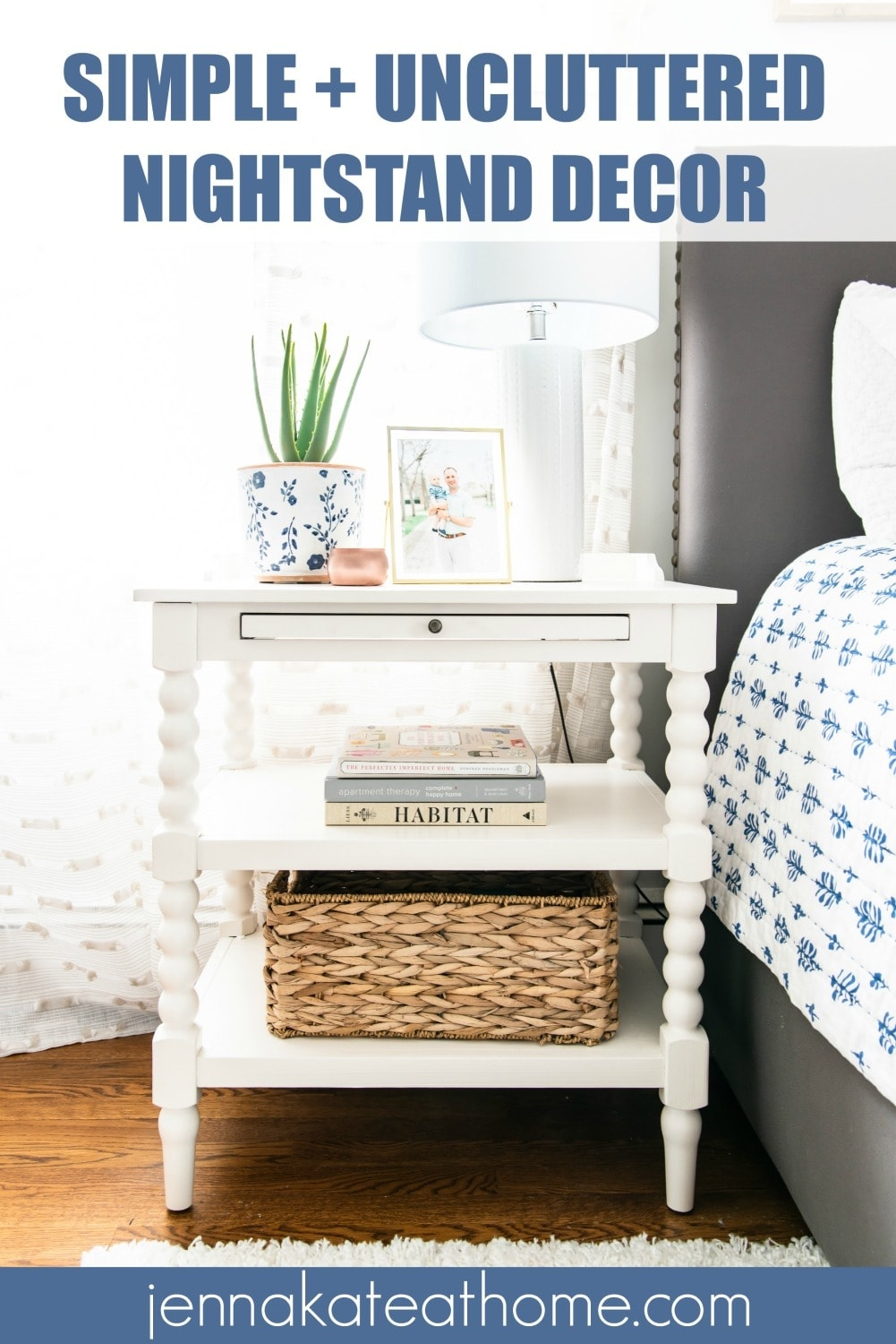 Simple and uncluttered nightstand decor ideas for your bedroom