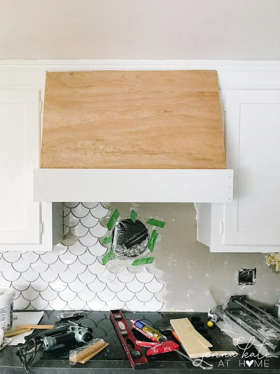 DIY kitchen vent hood tutorial