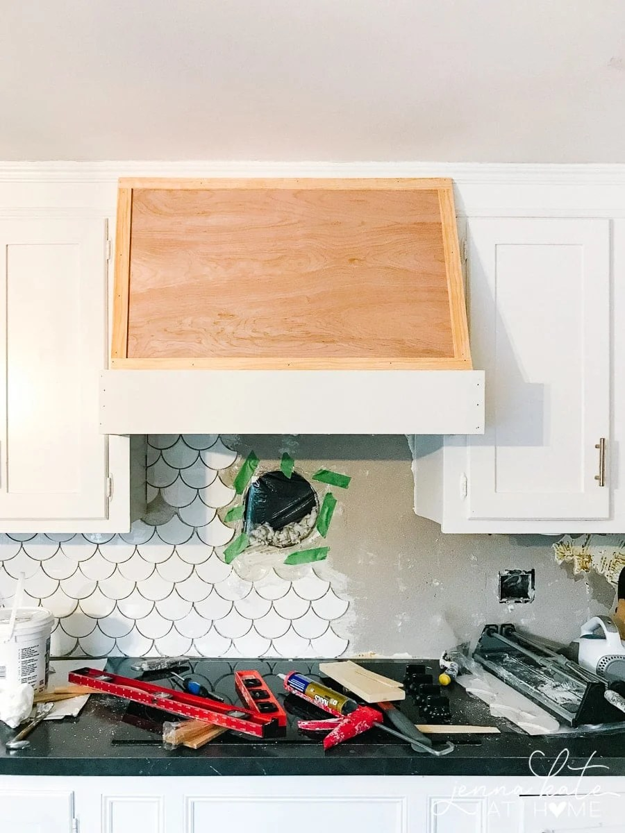 How to build a custom vent hood cover on a budget