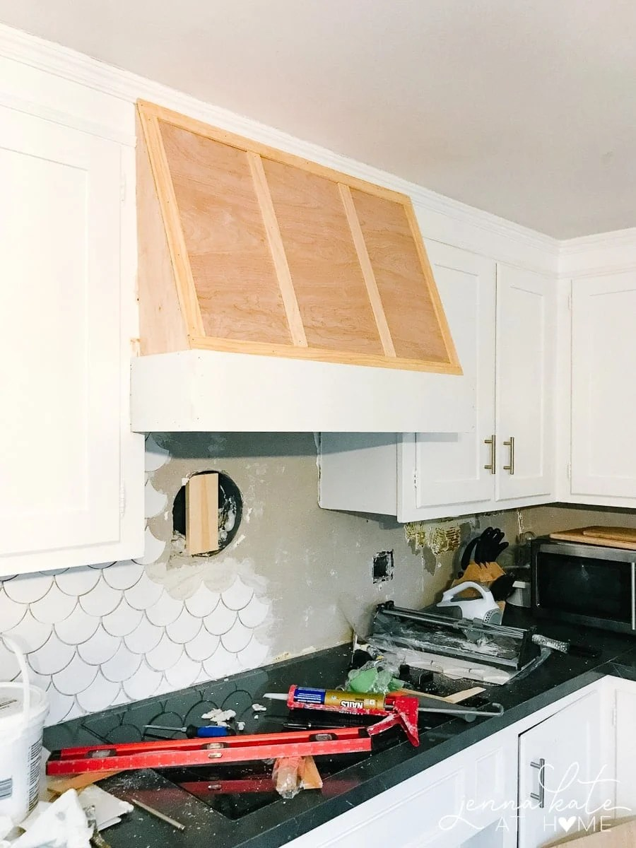 DIY custom range vent hood on a budget