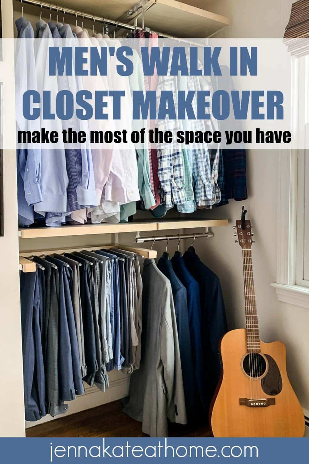 mens walk in closet makeover