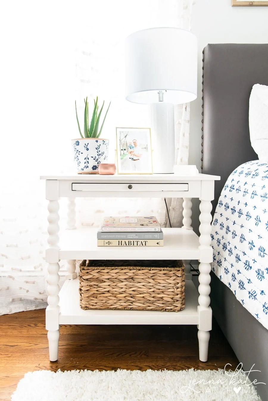 How to decorate the top of a nightstand