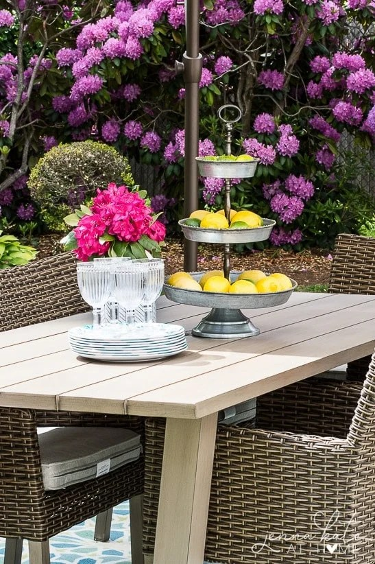 Summer entertaining doesn't require your best china! Use affordable, fun summer plates and dinnerware for outdoor entertaining