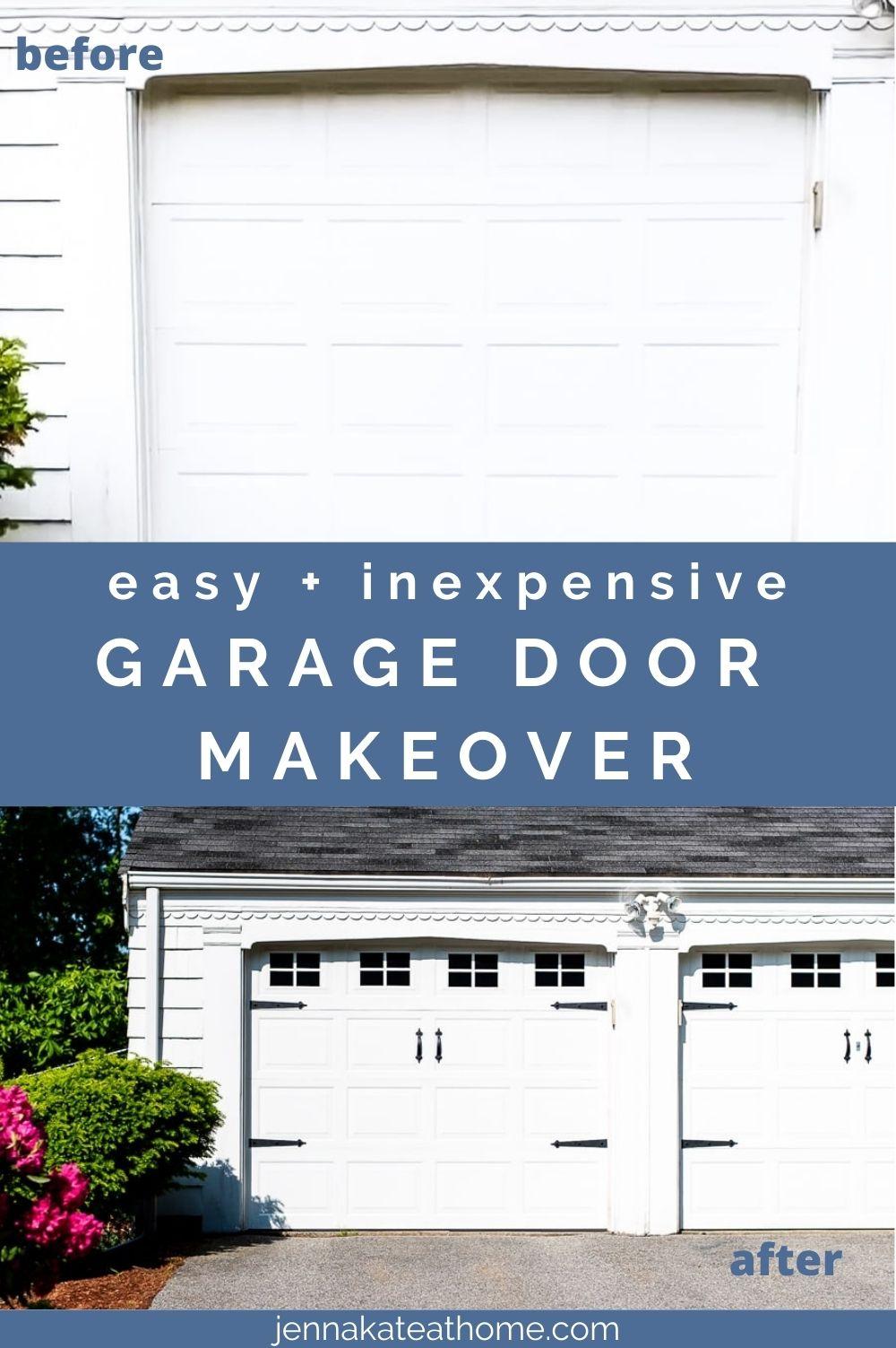 easy garage door makeover