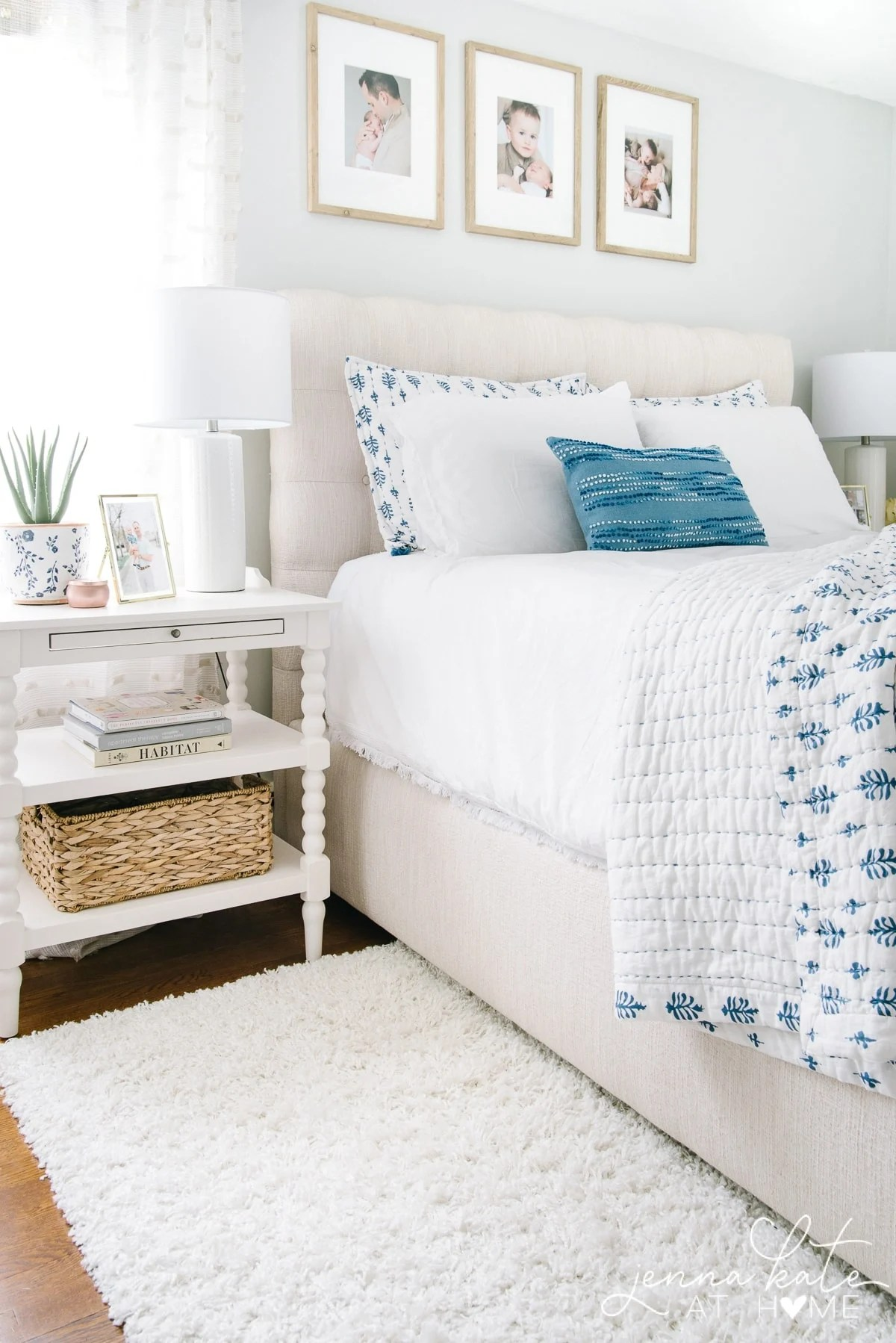 2019 Summer Home Tour featuring this light and bright master bedroom