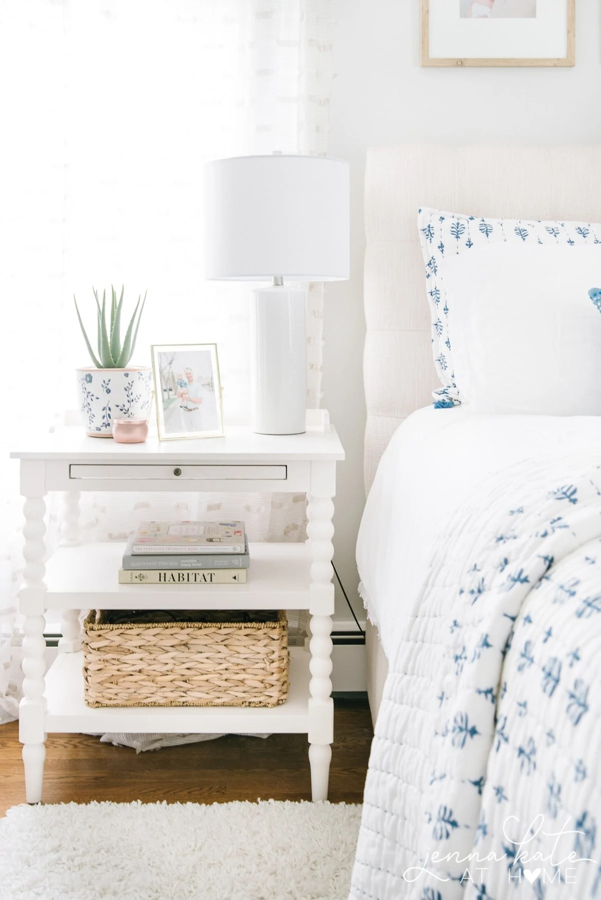 The prettiest soft color for a master bedroom in summer for a 2019 summer home tour