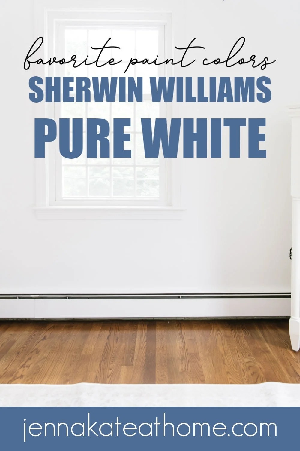 Sherwin Williams Pure White walls