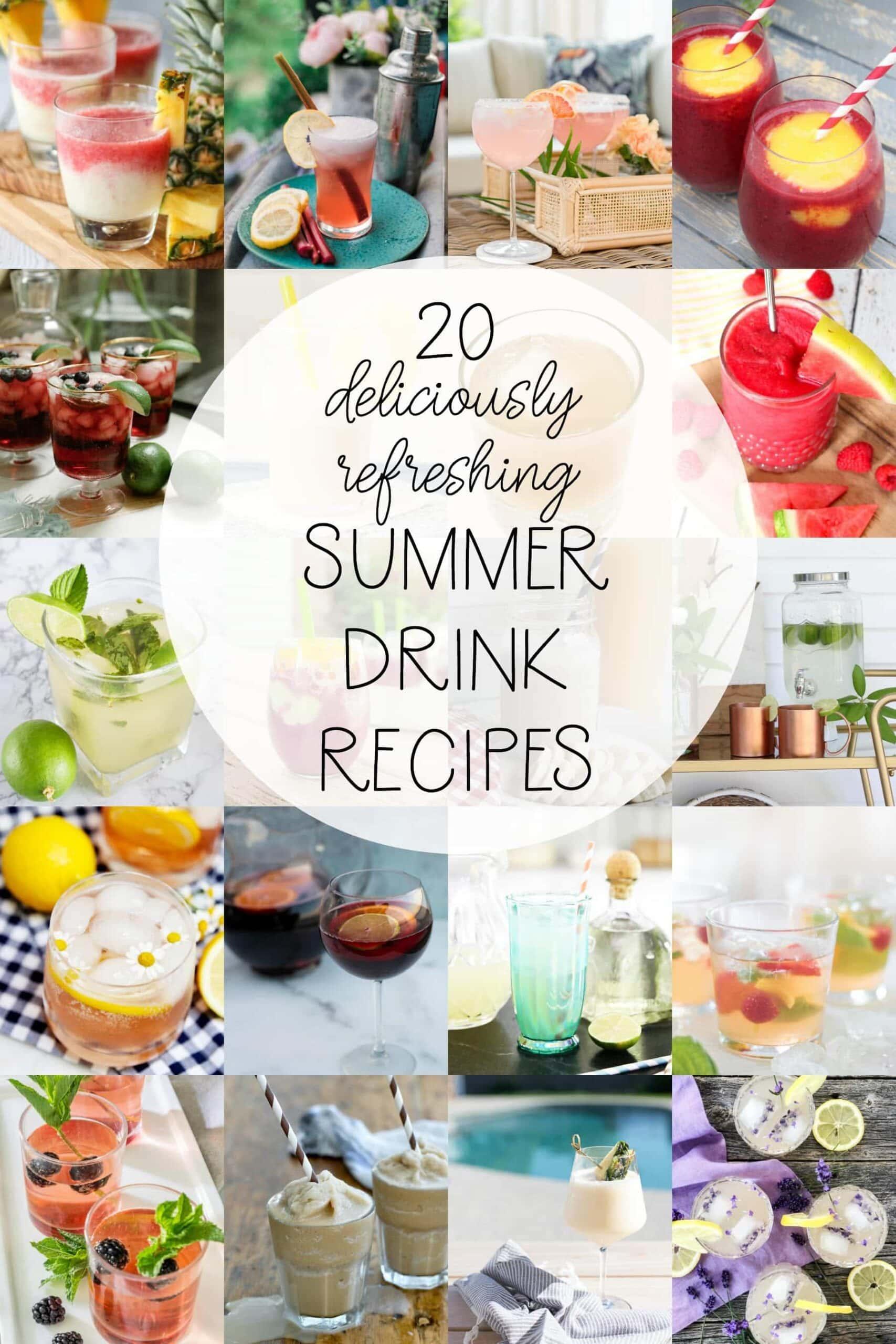 easy summer drinks alcohol summertime recipes