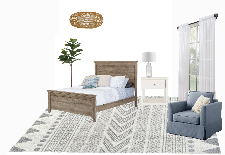 bedroom before coastal accents