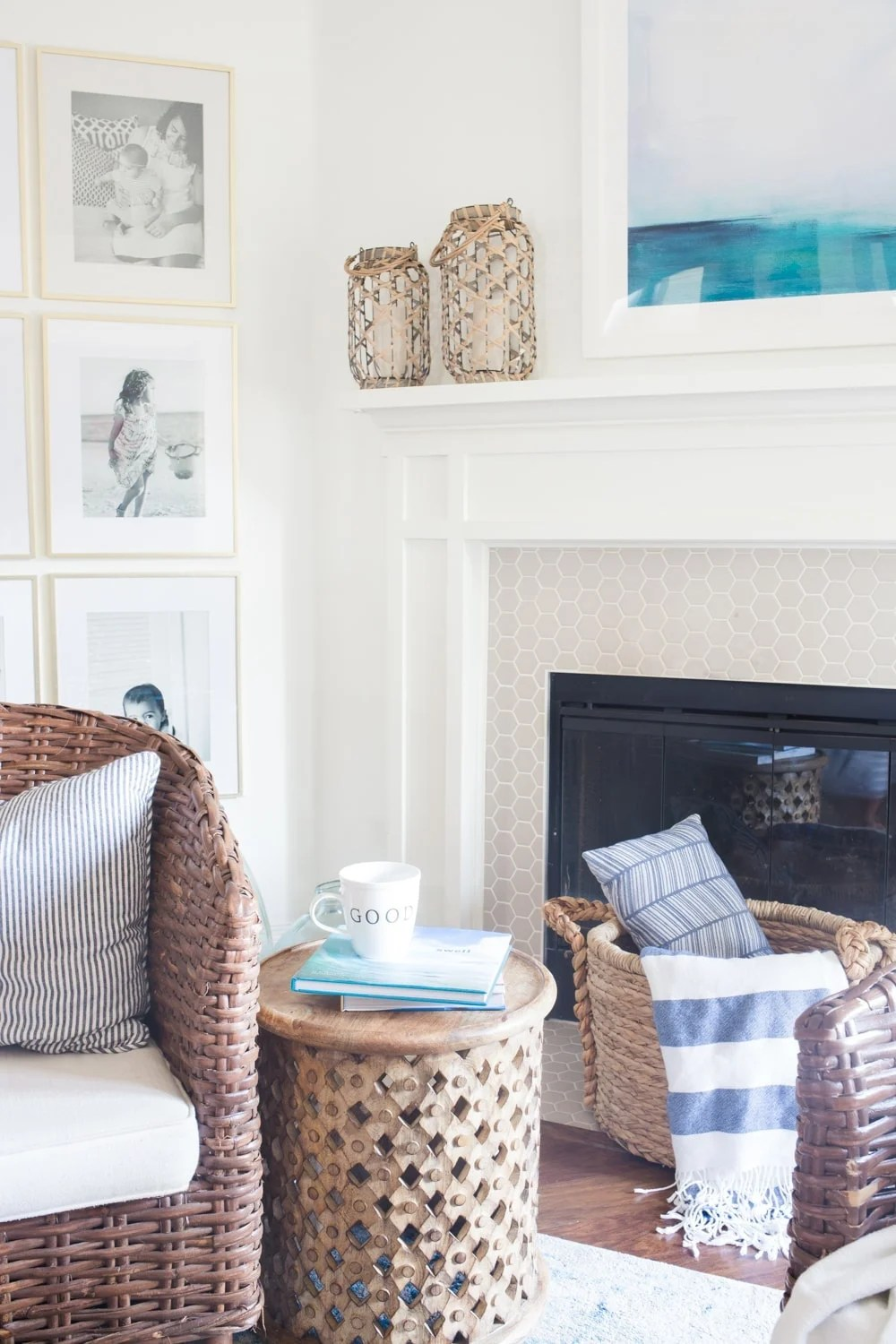 Coastal decor that's not nautical or too themed