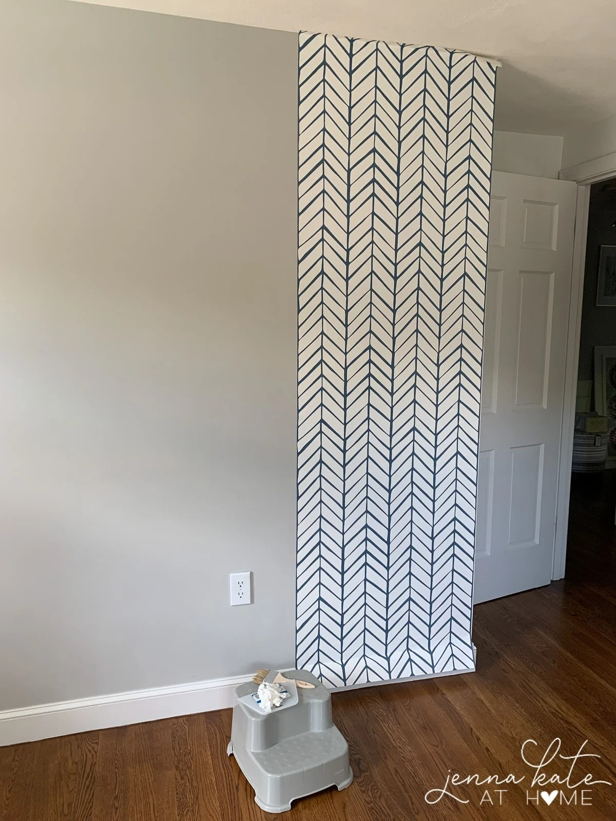 How to get the first strip of wallpaper straight on your wall