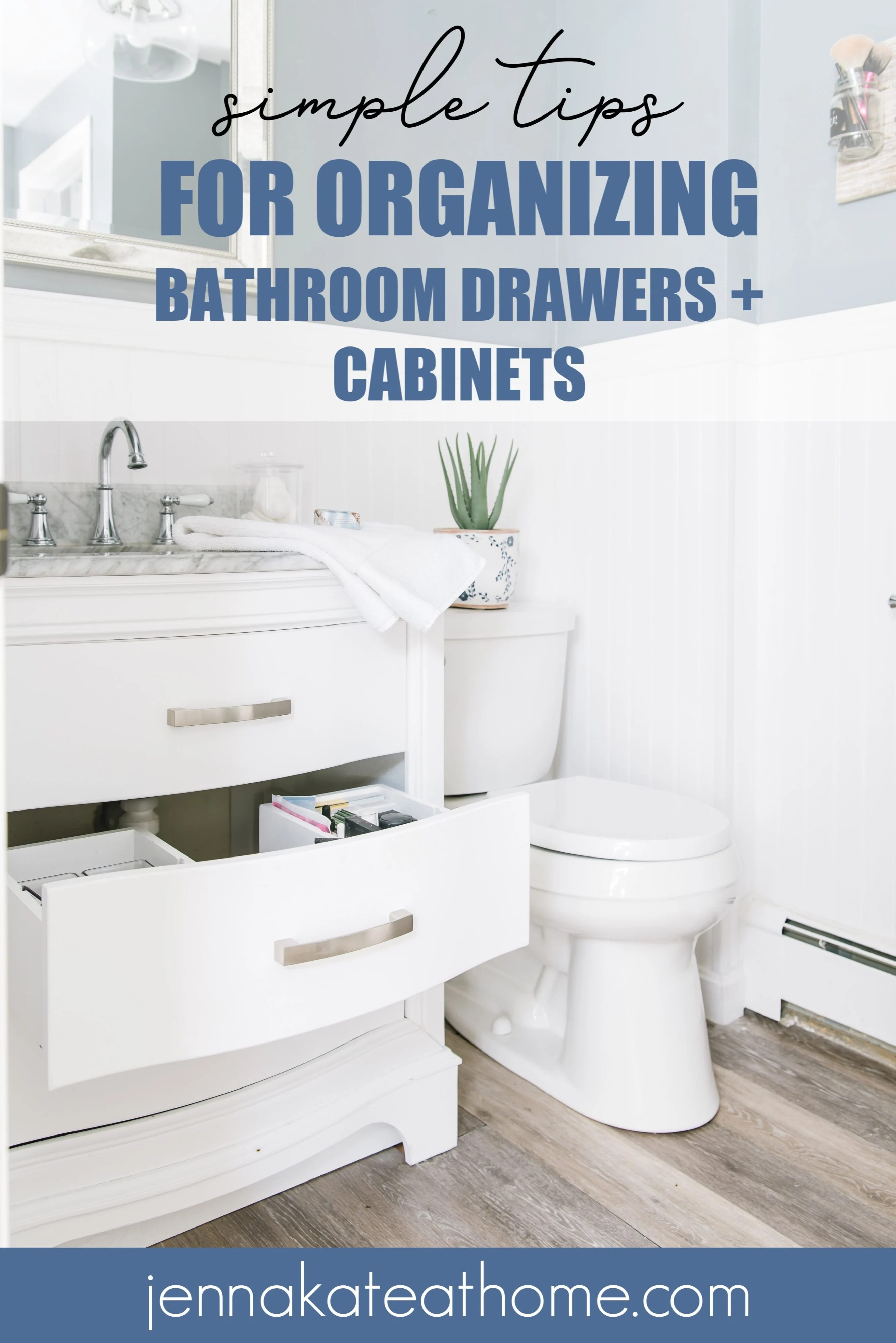 Simple tips for organizing bathroom drawers and cabinets Pinterest