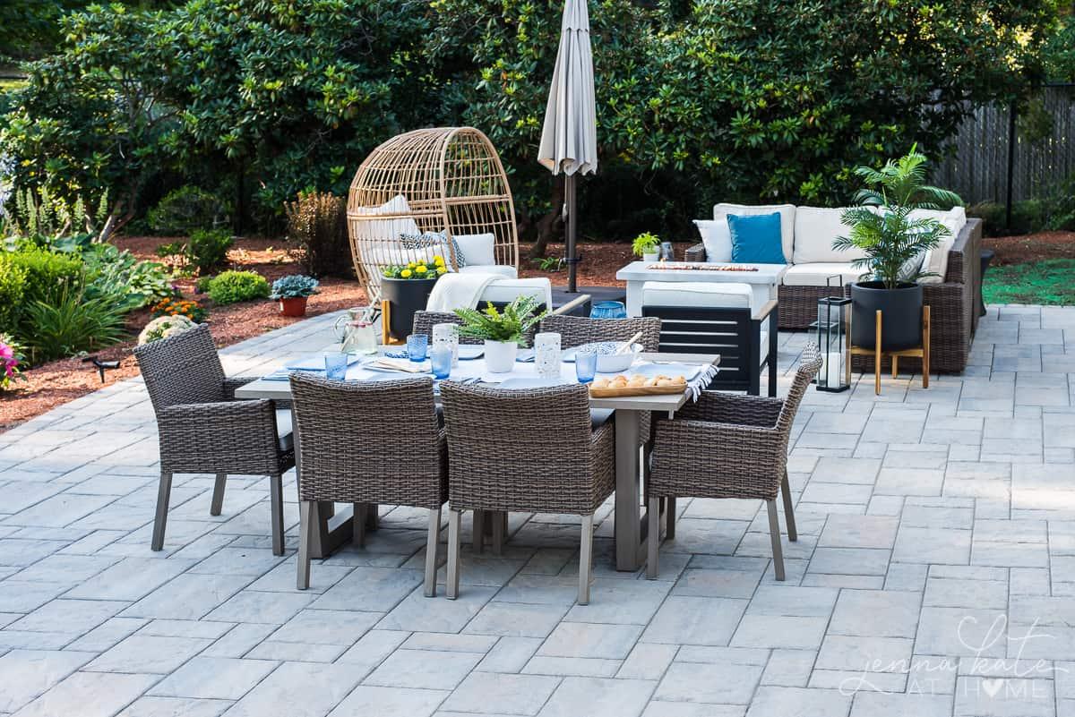Backyard patio view