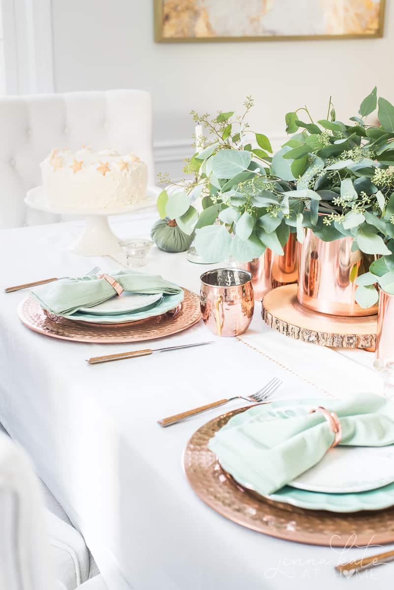 Elegant fall table decor 2019
