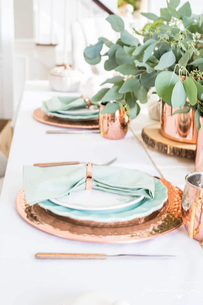 Decorating with copper for fall