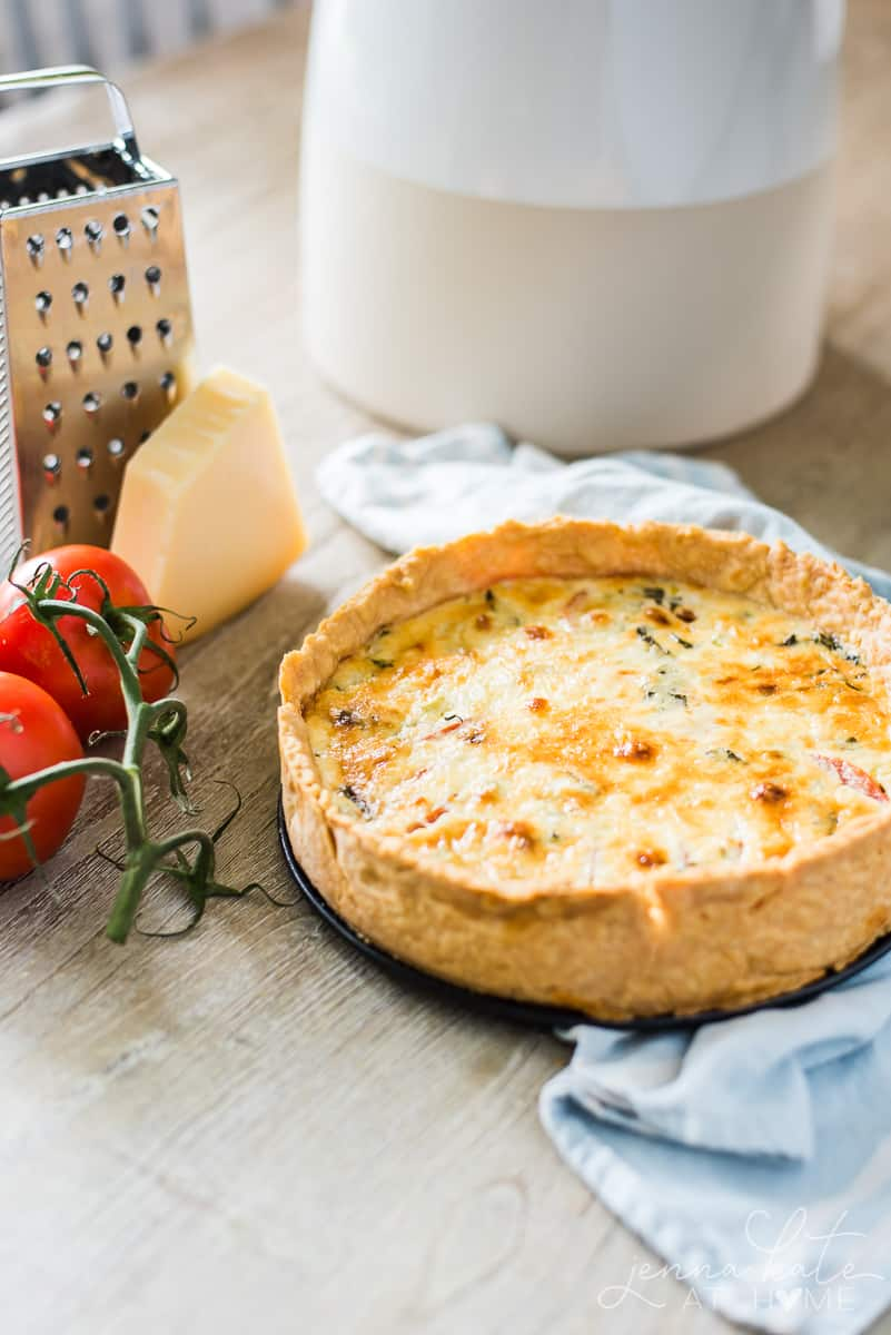 A delicious tomato pie recipe filled with all the flavors of summer