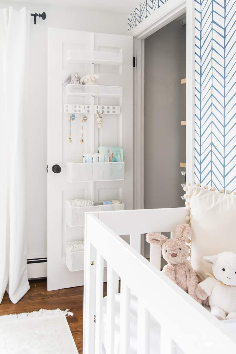 These nursery closet organizers made keeping our baby's room clean and organized super easy