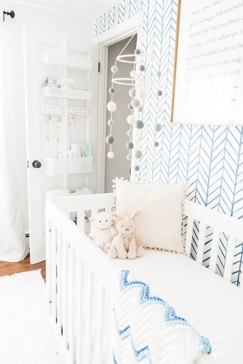 Nursery with closet door open