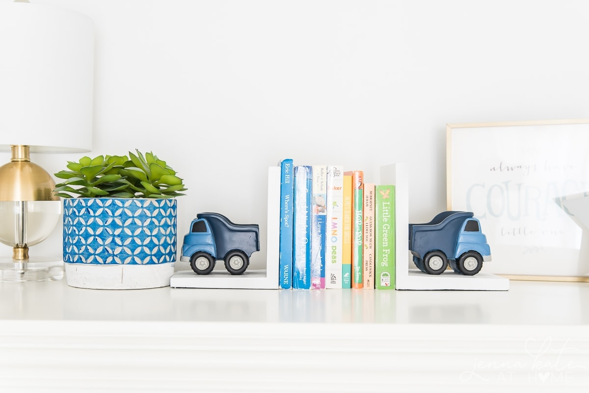 Truck book ends with baby board books