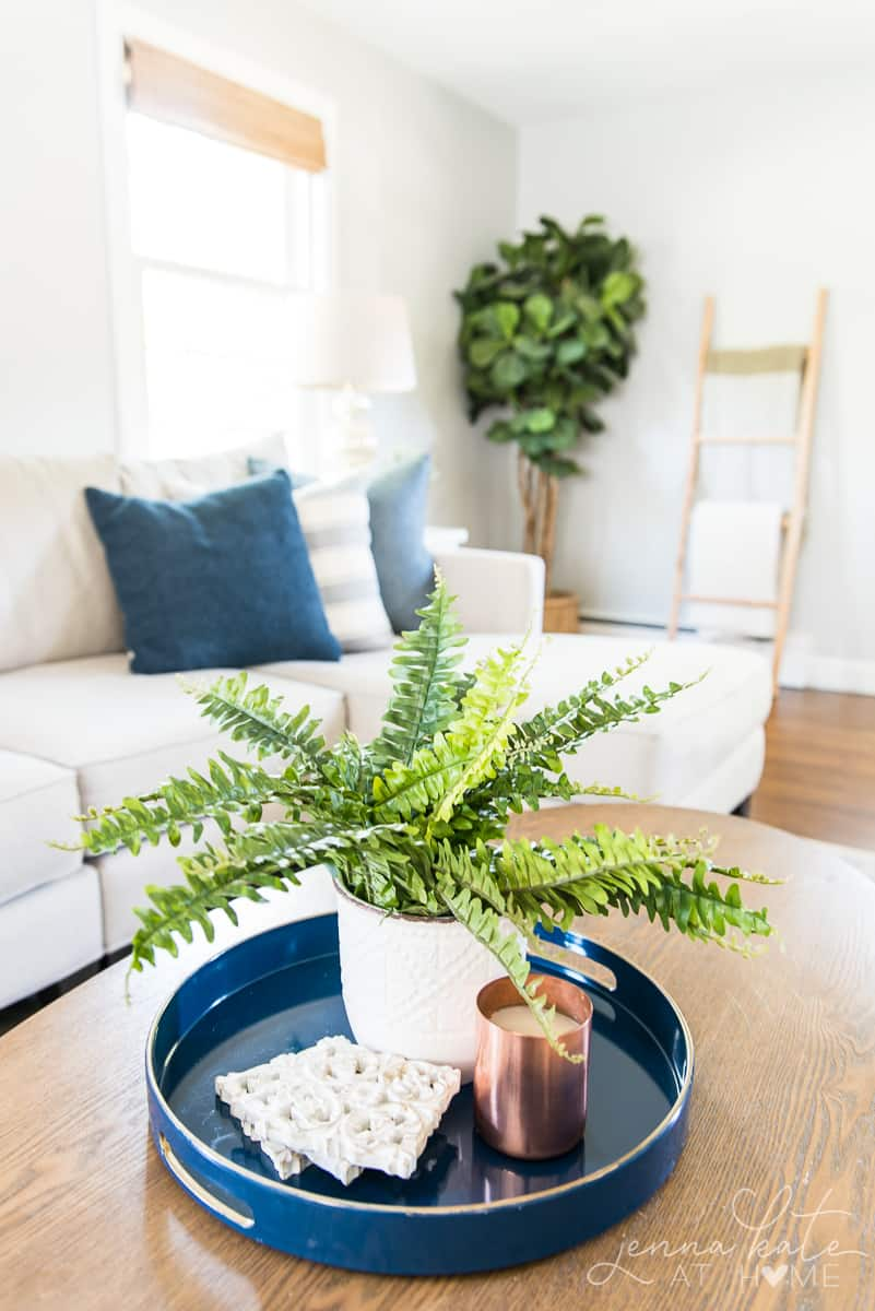 Fall decor and coffee table styling