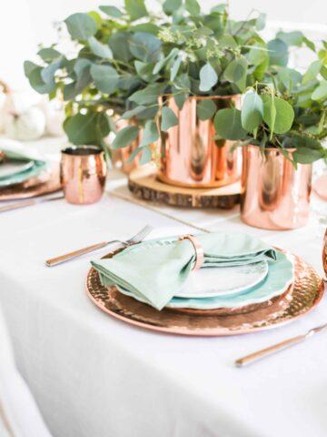 2019 fall table setting ideas
