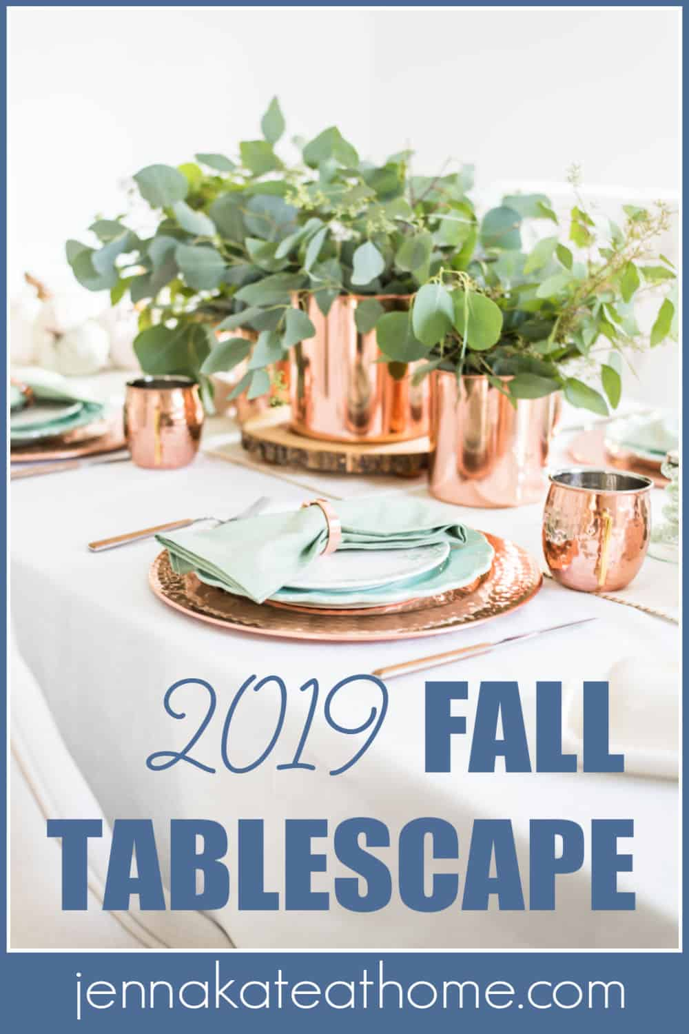 2019 fall table setting Pinterest