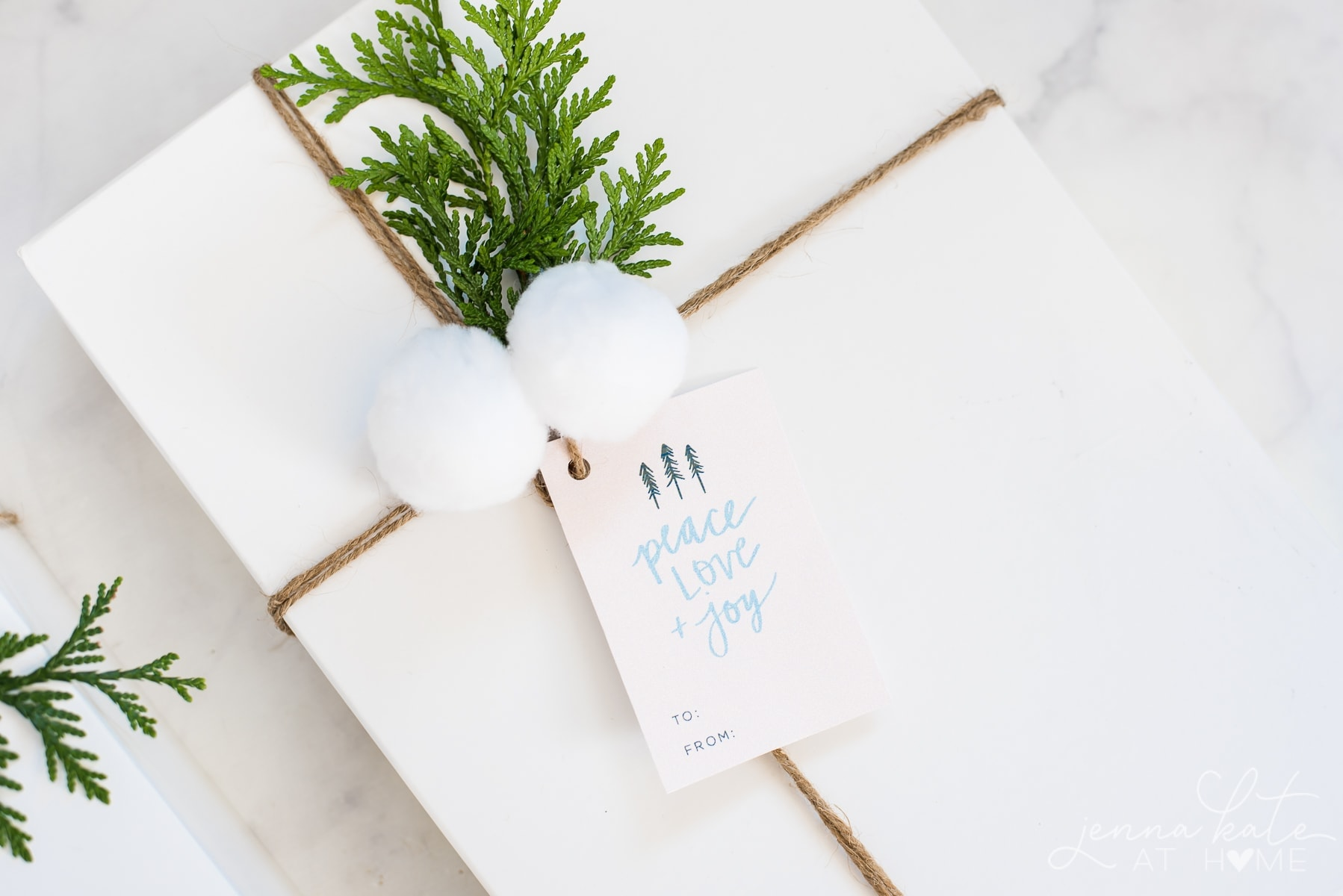 Free printable Christmas gift tags. Personalize with recipients name!